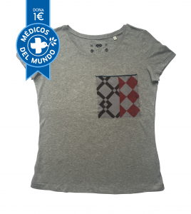 camiseta chica gris hidraulika algodón orgánico