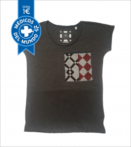 camiseta chica gris antracita hidraulika algodón orgánico