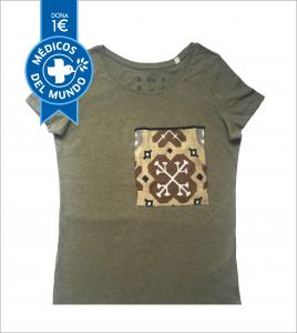 camiseta chica kaki hidraulika algodón orgánico
